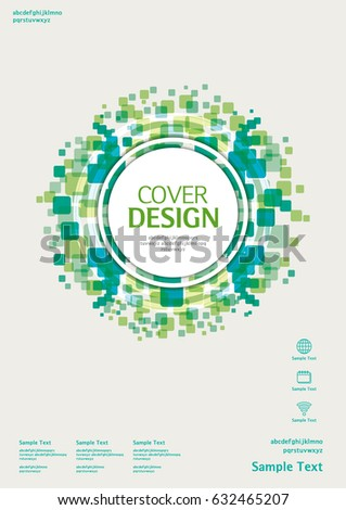 business vector template book cover annualのベクター画像素材