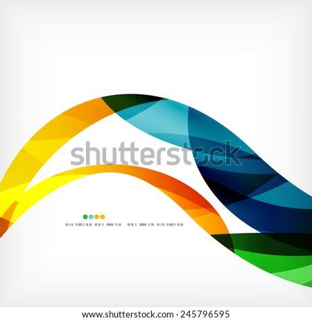 Business wave corporate background, flyer, brochure design template - stock vector