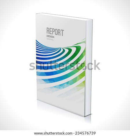 Business wave design background. Cover Magazine, report geometric shapes info-graphic, vector illustration. 3D  - stock vector