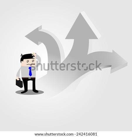 business way - stock vector