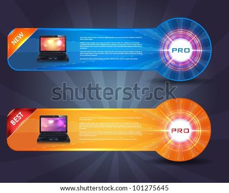 Business Web Banner Vector Set - stock vector