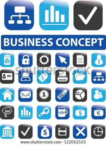 business web buttons concept, vector - stock vector
