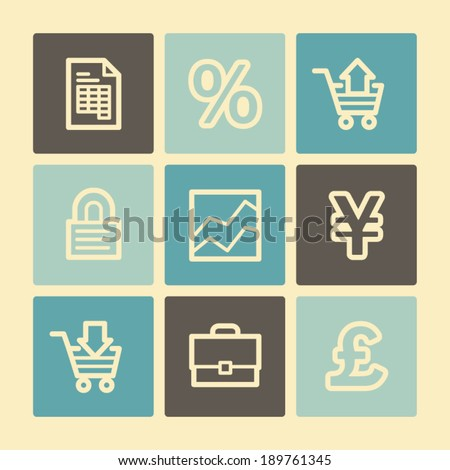 Business web icons, buttons set