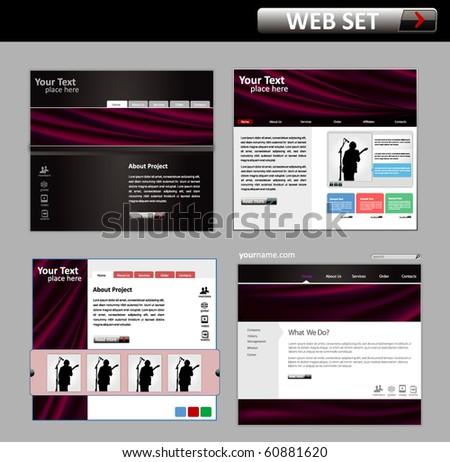 business web site design template - vector illustration - stock vector