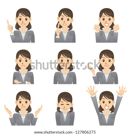 business woman - stock vector