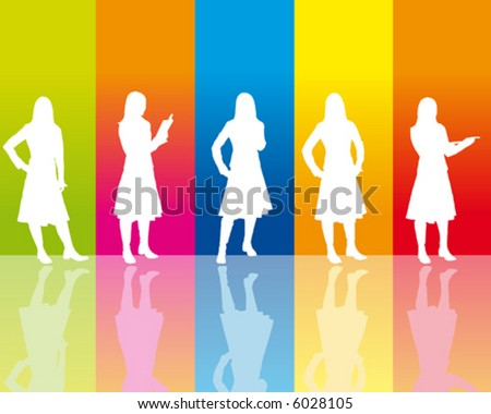 Business-Woman - stock vector