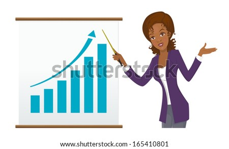 Business woman - Illustration - stock vector