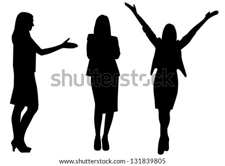 business woman silhouette vector illustration isolated - stock vector