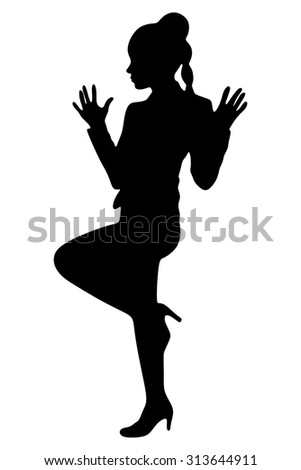 Business woman standing , vector