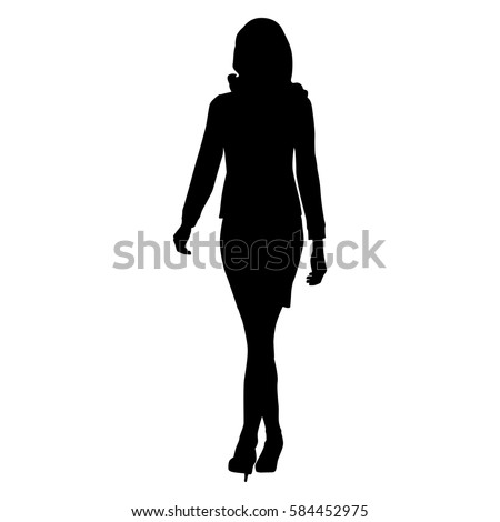 Woman Walking Silhouette Stock Images, Royalty-Free Images ...