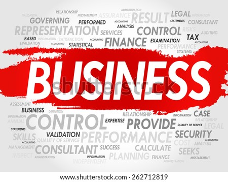 BUSINESS word cloud, business concept - stock vector