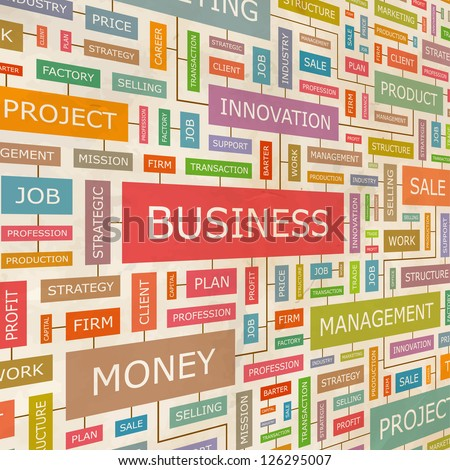 BUSINESS. Word collage. Vector illustration.