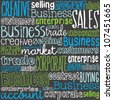 Business words seamless vector pattern - stock photo