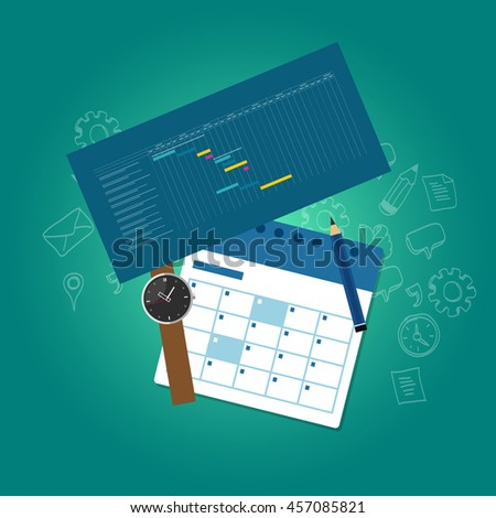 business work-flow management system process application information technology - stock vector