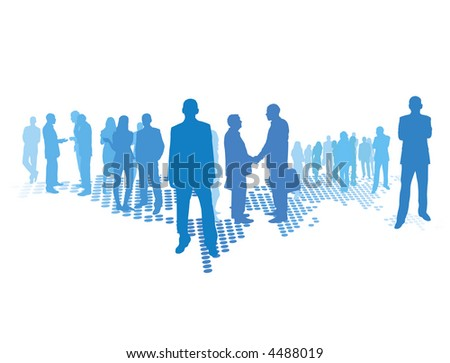 business world - stock vector