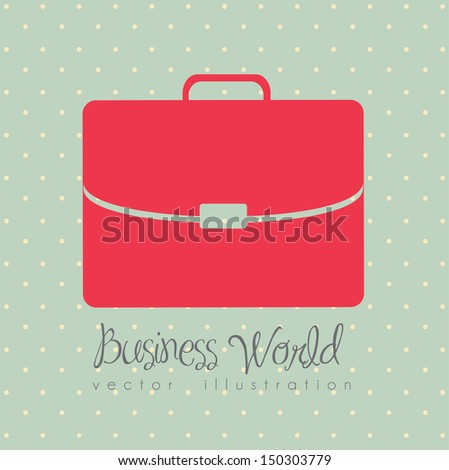 business world over dotted background vector illustration  - stock vector