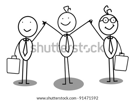 Businessman achievement - stock vector