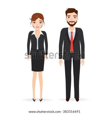 Businessman and business woman character. people character.