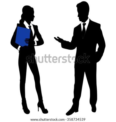 Businessman And Businesswomen Having Informal Meeting In Office - stock vector