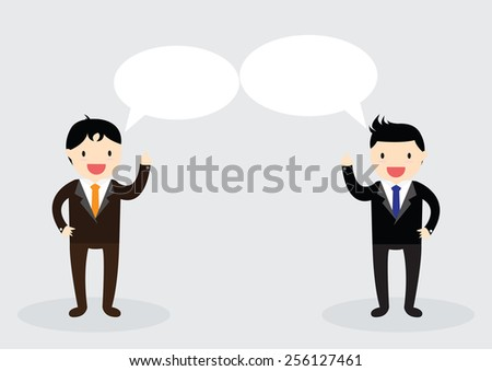 Businessman are talking together. Can write your message in the copy space