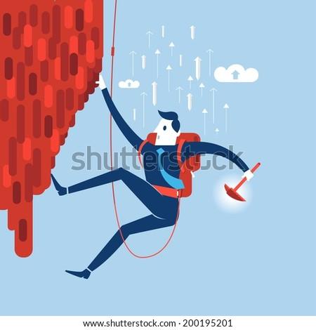 Businessman attemp to success. - stock vector