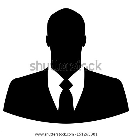 Businessman avatar profile picture - vector - stock vector