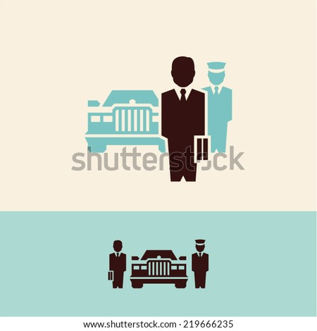 Businessman. BOSS. CEO. Banker. - stock vector
