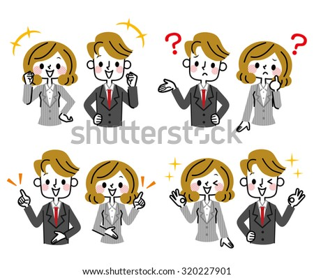 Businessman?Businesswoman - stock vector