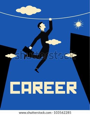 Businessman Career - stock vector