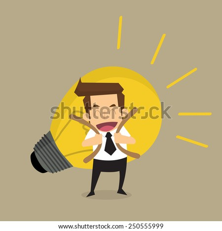 Businessman carry idea.vector - stock vector