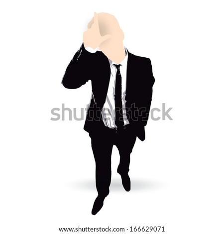 businessman cartoon loser concept - stock vector