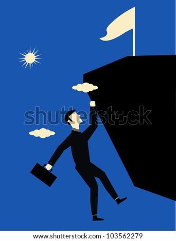 Businessman Climb - stock vector