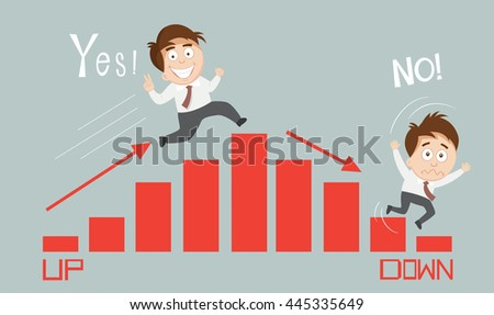 Up and down graph stock images royalty free images for Table up and down but