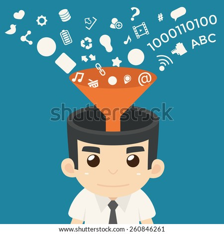 Businessman Communication , eps10 vector format - stock vector