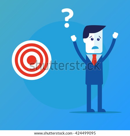 Businessman concept find target vector eps 10 - stock vector