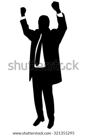 Businessman Concept Winner Success Vector Illustration
