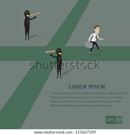 businessman confidence to success vector cartoon