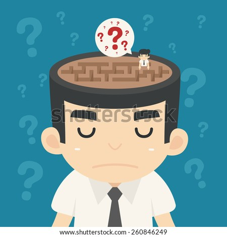 Businessman confused , eps10 vector format - stock vector