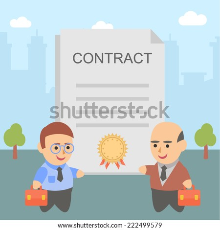 businessman contract pact client - stock vector