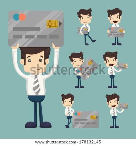 Businessman credit card , eps10 vector format - stock vector