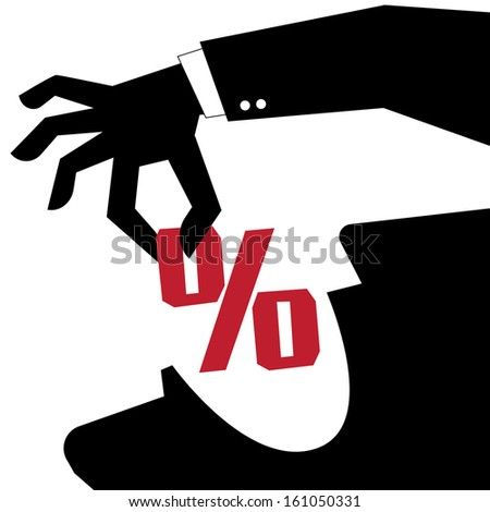 Businessman divided money to politicians for facilitate the approval to hire purchase. Classified as a type of corruption. - stock vector