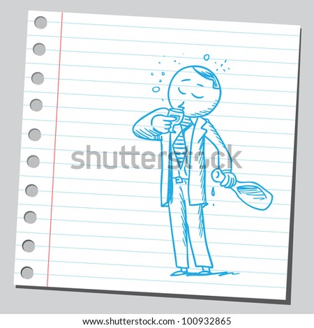 Businessman drinking alcohol