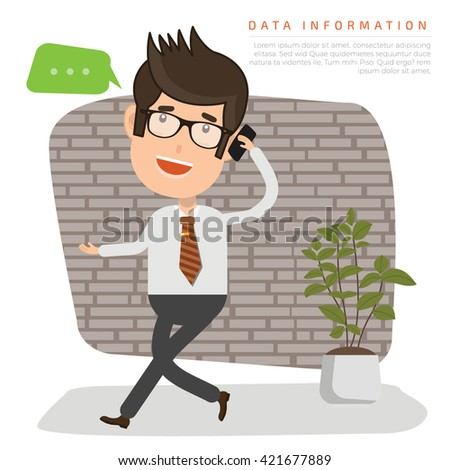 Businessman,employee concept design on clean background,vector