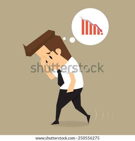 Businessman fail .vector - stock vector