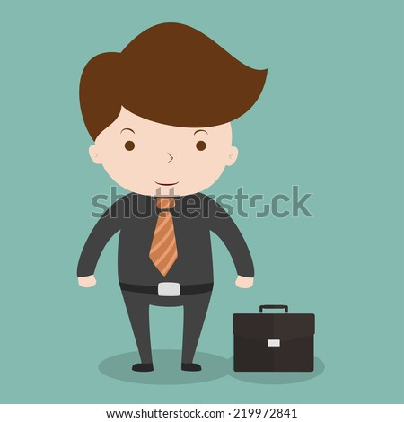 Businessman full length portrait,Vector EPS 10 - stock vector