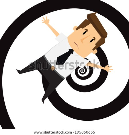 Businessman get confused - stock vector
