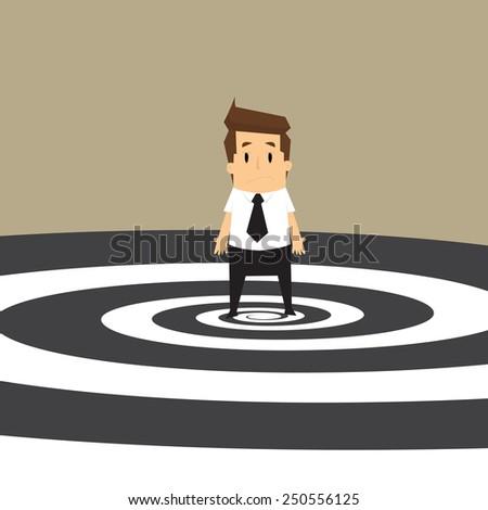 Businessman get confused.vector - stock vector