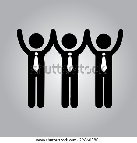 Businessman Group Workforce .Leader icon - stock vector