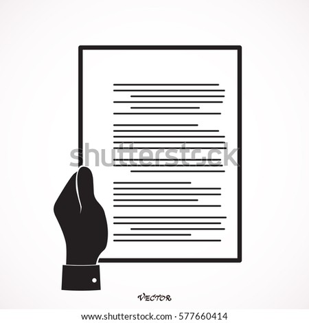 businessman hand holding resume document cv stock vector 577660414