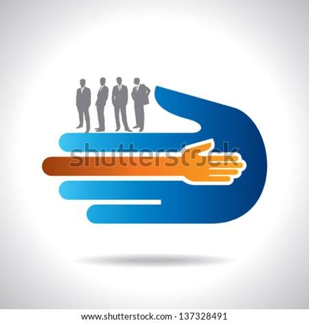 businessman hand shaking. best deal - stock vector